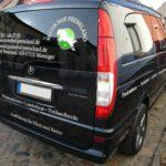 Einn Mercedes Benz Viano mit Werbebeklebung Reiterhof Peeneland